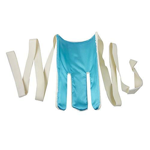 Calzador de calcetines Terry, Blanco y azul, Mobiclinic