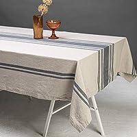Duk Striped Linne/Bomull Beige 145x250 cm