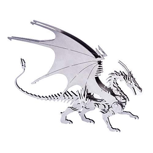 Gettesy Puzzle de metal 3D, juego de construcción de maqueta, juguete de construcción 3D, animales mecánicos, regalo para niños, jóvenes y adultos