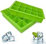 bedee Cubitera Hielo,2pcs Moldes para Cubitos de Hielo,Molde Silicona Sin BPA, para Congelarse...