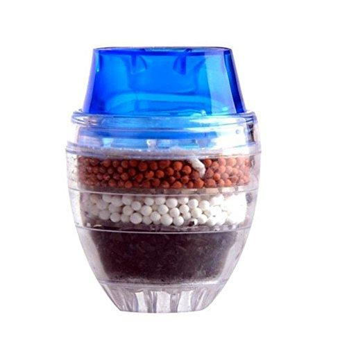 Shop-STORY – Filtro purificador de agua de 4 niveles de carbón con boquilla apilable en un grifo de 16 a 19 mm de diámetro.