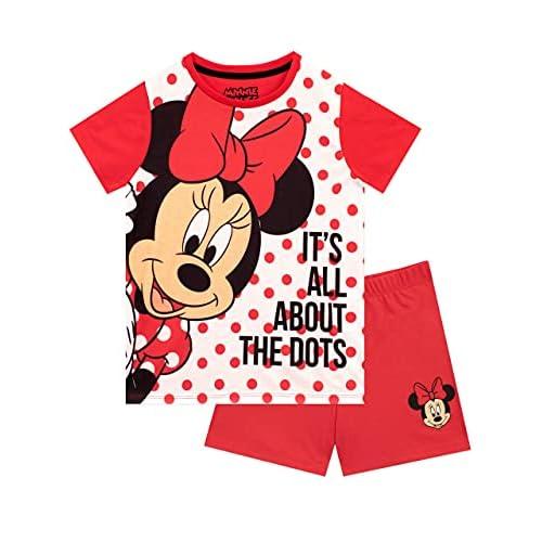 Disney Pigiama Corto per Ragazze Minnie Mouse Rosso 3-4 Anni