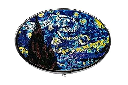 Pastillero de cristal para pintura al óleo de Van Gogh, pastillero de cristal, caja de cristal