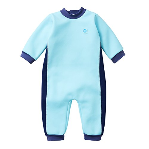 Splash About Kids' Warm in One Wetsuit,Blue(Blue Cobalt),6-12 Months(Manufacture Size:L)