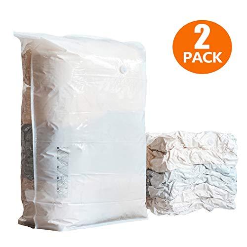 Opslag 2 PCS Vacuum opbergzakken 1Cube = 3 Regelmatig Bags Space Saver for Dekbedden Dekbedden Dekens Organizer, Free - Vacuum & Pump Design, helder materiaal, Airless opbergtas ( Size : 80*60*32cm )