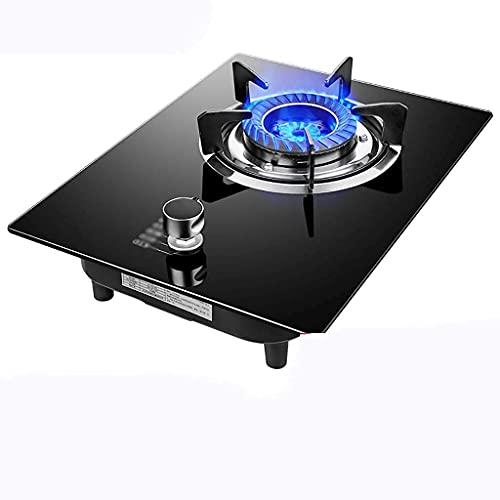 Ny gasspis, campingspis, gasspis skrivbord gasspis, inbyggd gasspis/spis/spishäll, 1 bärbar kokplatta i gjutjärn, med temperaturreglering och flamfelskydd [Energiklass A] (