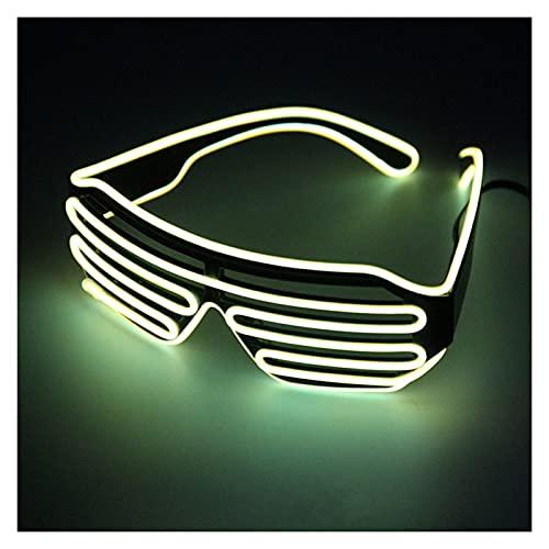 Alambre de luz Flexible Obturador Luminoso LED de neón Gafas de Alambre Elamse Luminoso Noche de graduación Marco Aleatorio Fiesta de decoración, Disfraz