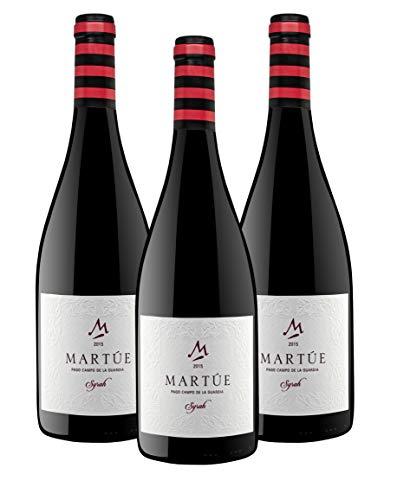Martúe Syrah Reserva Pago Campo de la Guardia Vino Tinto - Caja 3 Botellas - 2250 ml