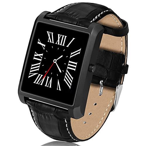 CNZZY Smart Watch Men Bluetooth Call Acero inoxidable 15 días en espera 240 * 240 Monitor de ritmo cardíaco Smartwatch para Android IOS (negro)