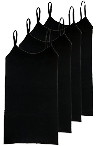 HL California Camisole 4 Way Stretch Seamless Basic Layering Top Pack of 4 (4PK Black)