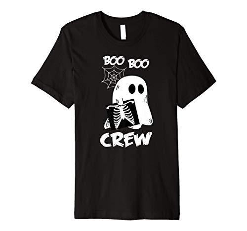 Boo Boo Crew Funny Radiology Nurse X-Ray Ghost Premium T-Shirt