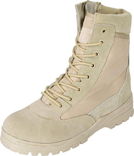 Mc Allister Outdoor Boots Patriot Style mit Schnellverschluss (Khaki/44)