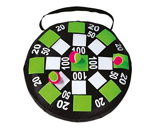 Betzold-Sport 50476 - Klett-Darts Klettdartscheibe für Kinder Spielzeug-Darts extragroße Zielscheibe Klettdartspiel