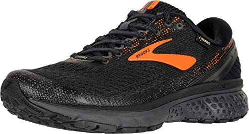 Brooks Men's Ghost 11 GTX Running Shoes, Multicolour (Black/Orange/Ebony 038), 10 UK