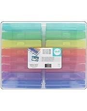 We R Memory Keepers 660269 - Contenedor de Almacenamiento con 16 Mini Estuches Codificados Por Colores para Almacenar Fotos, Adornos, Cintas, 38.1 x 30.48 x 12.95 cm
