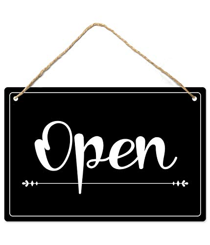Open Closed Sign, 12″x8″ PVC Plastic Double Sided Hanging Sign, High Precision Printing, Water Proof, Open and Closed Sign for Business, Retail Store Supplies, Open Sign, Closed Sign