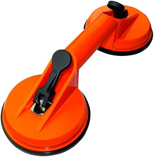 AERZETIX - Mango Ventosa Doble para Transporte Tracción de Cristal 40kg - ∅120mm 480gr - Plástico - para Desplazar/Extraer/Levantar Elementos de Superficie Plana y Lisa - C45914