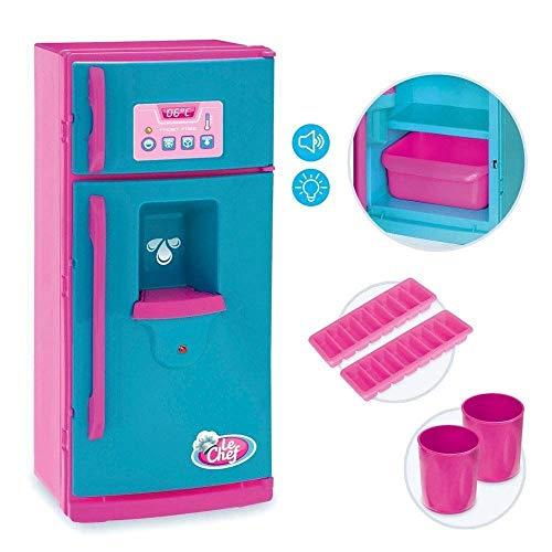 Geladeira Le Chef com Som e Luz, Usual Brinquedos, 410, Azul/Rosa