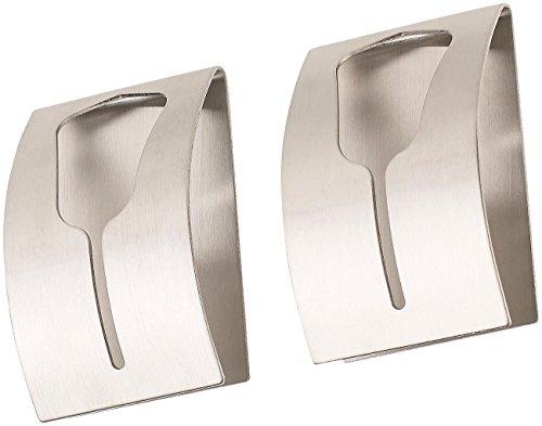 Carlo Milano Geschirrtuchhalter: 2er-Set Handtuchhalter aus rostfreiem Edelstahl, selbstklebend (Handtuchhalter zum Klemmen)