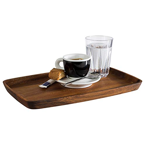 APS Servierbrett, Brett aus geöltem Akazienholz, Tablett aus Holz, Holzbrett für den Service, braun, 18 x 30 cm, 2 cm Höhe