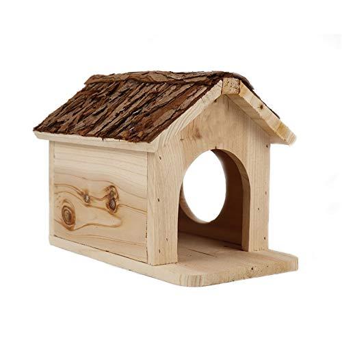 MAATCHH Madera Hamster Escondite Hamster Casa Zona de Juegos hámster Enano Casa de Madera Hut Duradero for Pequeños Animales Juguetes Vida Natural Las Aves para Las Ardillas