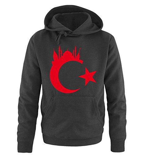 Comedy Shirts Türkei - Wappen - Istanbul - Herren Hoodie - Schwarz / Rot Gr. M