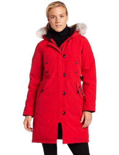 Canada Goose Women's Kensington Parka,Red,X-Small