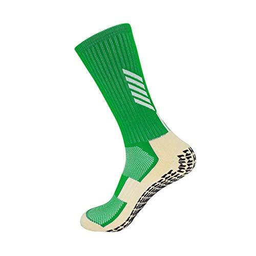 TZNZBGY Calcetines Deportivos para Hombre, Antideslizantes, para Montar en Bicicleta, fútbol, Calcetines Deportivos Profesionales, Medias de Nailon Transpirables para Correr Green