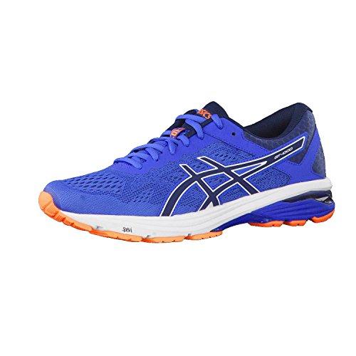 ASICS Gt-1000 6, Scarpe da Running Uomo, Blu Victoria Blue Dark Blue Shocking Orange 4549, 39 EU