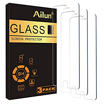 Ailun 0.33mm Screen Protector Compatible for iPhone 8,7,6s,6 4.7-Inch 3 Pack 2.5D Edge Tempered Glass,Case Friendly
