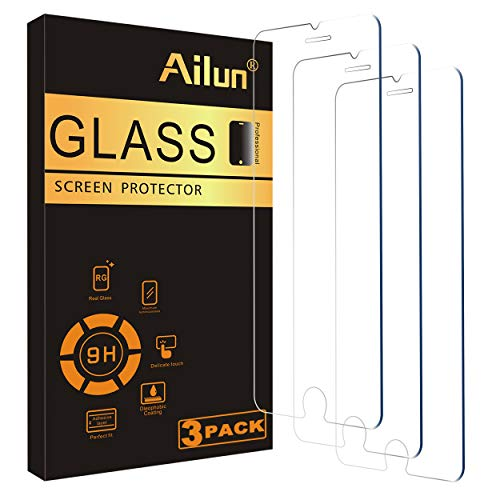 Ailun 0.33mm Screen Protector Compatible for iPhone 8,7,6s,6, 4.7-Inch, 3 Pack 2.5D Edge Tempered Glass,Case Friendly