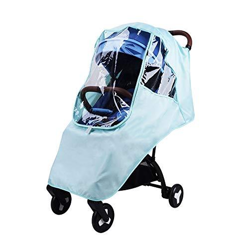 LJPzhp-Baby Poussette Protection Pluie Poussette Rain Cover Universal Poncho Pare-Brise Respirant antipoussière Raincoat Enfant Pluie Car Cover (Couleur : Vert, Taille : Taille Unique)