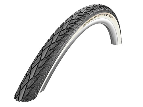 Schwalbe Road Cruiser HS 377 Mountain Bike Tire. - Wire Bead. (Whitewall - 20 x 1.75)