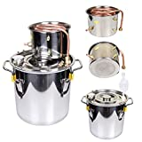 Goetland 3 Gallons Moonshine Still Spirits Kit Water Alcohol Distiller Home Brew Wine Making Kit Oil Boiler Copper Tube Stainless Steel