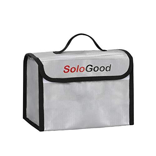 Maxjaa Lipo Bolsa de seguridad para batería a prueba de fuego, a prueba de explosiones, bolsa de almacenamiento segura para Lipo, bolsas de protección para transporte de Lipo (Pequeño)