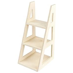 Estantería Escalera Linus | Estantería Decorativa Plegable I Estantería de Madera con 2 Estantes I Color:, Color:Antiguo-Gris: Amazon.es: Hogar