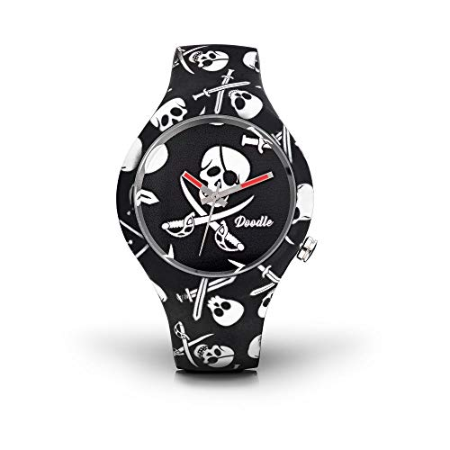 Montre Doodle Skull Mood Noir