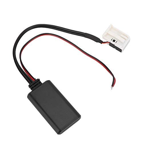 Adaptador Bluetooth de audio de 12 pines Cable de audio auxiliar Cable de audio y música Adaptador de interfaz de música para integración en el automóvil Ajuste para Mercedes Benz
