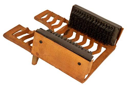 Schoenafveegmachine gietijzer, schoenborstels, tuindecoratie, roestbruin, schoenaccessoires & onderhoud By ARSUK® Welly laarzen zwart