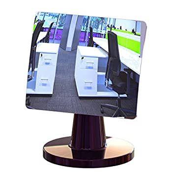 Desk and Cubicle Mirror to See Behind You CONICAL Shaped Stand with Detachable Wide Angle Real Glass Mirror Small & Discrete Beautiful Design Perfect Curvature for an exceptionally Clear View