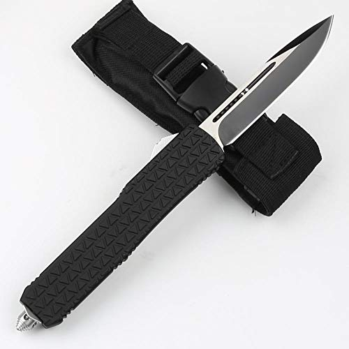 Double Action Knives Outdoor Tactical Knife Single Blade Black Hunting Knife