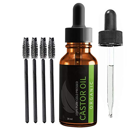 adshi Pure Castor Oil for Eyelashes Eyebrows Hair Growth,Naturals Premium Cold Pressed Castor Oil,Castor Oil for Hair Growth Eyelashes Eyebrows,Organic Cold Press,Castor Oil Eyebrows and Eyelashes