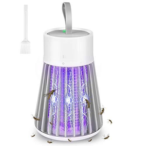Insektenvernichter mit UV Licht, Mückenlampe Elektrischer UV Insektenvernichter Mückenfalle insektenfalle USB Mosquito Killer Lampe Electric Bug Zapper für Innen und Außeneinsatz, Gärten, Camping