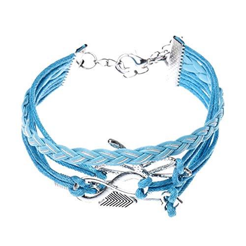 DMUEZW Pfeil Libelle handgemachte Leder Braid Fashion Armband