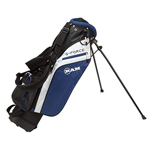 Ram Golf Junior G-Force Boys Right Hand Golf Clubs Set with Bag (Ages: 10-12, 9 Pieces Golf Set) (Ages 7-9)