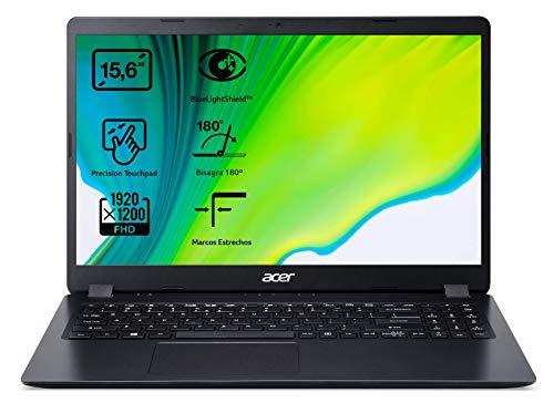 "Acer Aspire 3 A315-56 - Ordenador Portátil 15.6"" Full HD, Laptop (Intel Core i5-1035G1, 12GB RAM, RAM, 512GB SSD, UMA Graphics, Sin Sistema Operativo), PC Portátil Color Negro - Teclado QWERTY Español"