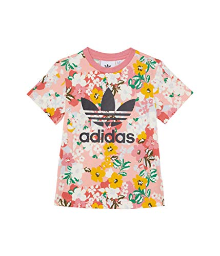 adidas Baby Girl's Tee (Infant/Toddler) Trace Pink/Multicolor/Black 3T (Toddler)