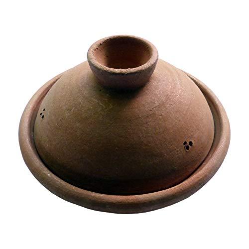 Simandra Tajine I Tontopf zum Garen I unlasierter Schmortopf I 28 cm Durchmesser I schadstofffrei