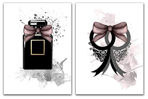 4Good EPICtures Fashion Bilder für Wohnzimmer/Premium Poster Set/Wandbild Schlafzimmer Deko Vintage Wandbilder/ohne Rahmen (Simplicity A4)