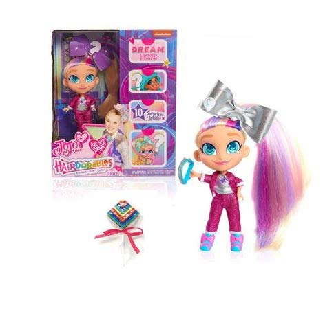 P2P Kids Girls Toys Indoor Play (1) JoJo Siwa Hairdorables D.R.E.A.M. Limited Edition Doll B (Bonus: Luvable Glossy Lip Shine)...